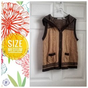 HASTING & SMITH brown knit sleeveless sweater